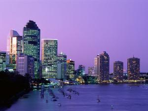 City Skyline, Brisbane, Queensland, Australia by Steve Vidler