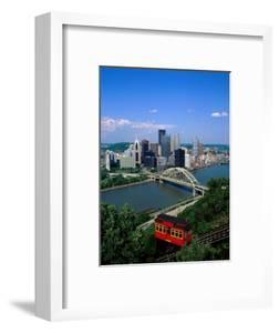Duquesne Incline Cable Car and Ohio River, Pittsburgh, Pennsylvania, USA by Steve Vidler