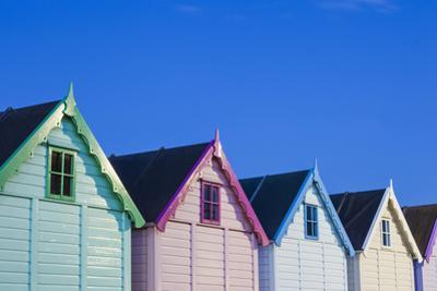 England, Essex, Mersea Island, Beach Huts