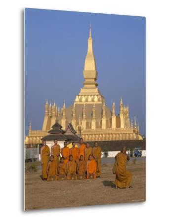 Great Stupa, Monks, Vientiane, Laos