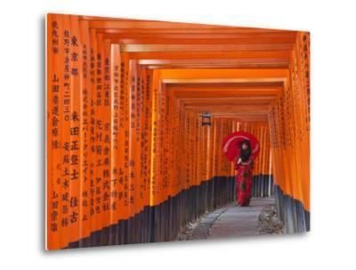 Japan, Kyoto, Fushimi Inari Taisha Shrine, Tunnel of Torii Gates