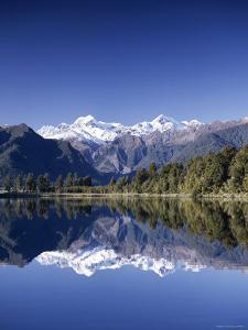 Lake Matheson and Mt.Cook, South Island, New Zealand by Steve Vidler
