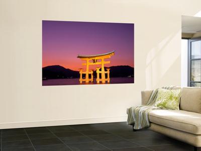 Miyajima Island, Itsukushima Shrine, Torii Gate, Night View, Honshu, Japan