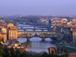 Ponte Vecchio and Arno River, Florence, Tuscany, Italy by Steve Vidler