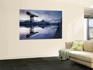 Scotland, Glasgow, Clydebank, the Finneston Crane and Modern Clydebank Skyline by Steve Vidler
