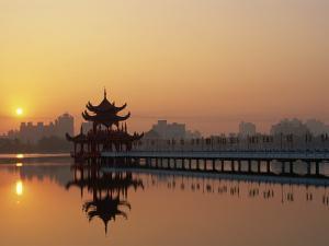 Taiwan, Kaohsiung, Lotus Lake at Sunset by Steve Vidler