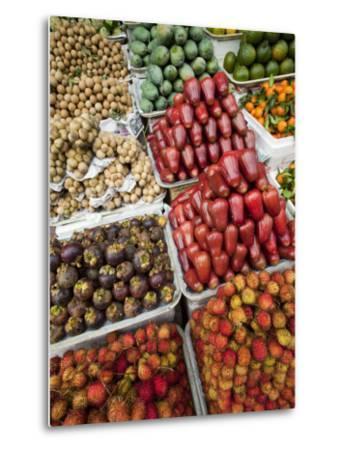 Vietnam, Ho Chi Minh City, Ben Thanh Market, Fruit Display