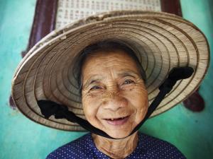 Vietnam, Hoi An, Portrait of Elderly Woman by Steve Vidler