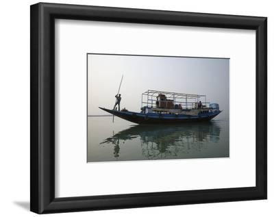 A River Ferry Traveling Through India's Sundarbans Region