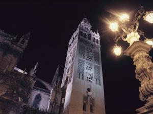 La Giralda, a Part of the Seville Cathedral, at Night by Steve Winter