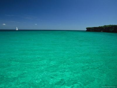 Sailboat in Crystal Clear Blue Water Off the Coast of Cuba by Steve Winter