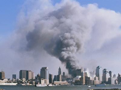 Smoke Billows over Manhattan after the September 11, 2001 Attack