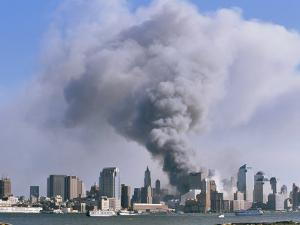 Smoke Billows over Manhattan after the September 11, 2001 Attack by Steve Winter