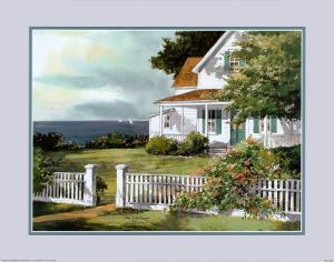 White Fence in Cape Cod by Steve Zazenski