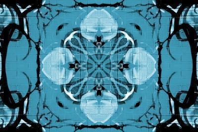 Blue Kaleidoscope Flower