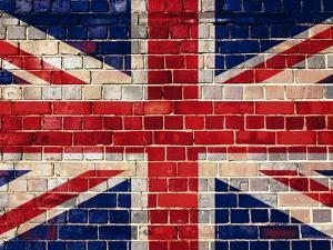 Uk Flag On A Brick Wall Background by Steve18
