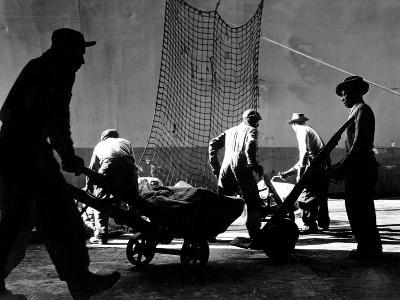 Stevedores at Work-A. Aubrey Bodine-Photographic Print