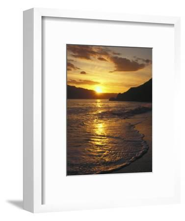 Sunset Over Beach, Angel Island, CA