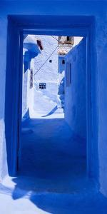 A Blue Passage in Moroccan Town by Steven Boone