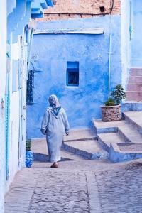 Female Figure in Moroccan Alleyway by Steven Boone