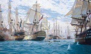 Battle Of Trafalgar by Steven Dews