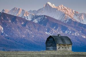 Historic Barn at Sunset, Flathead Indian Reservation, Montana by Steven Gnam