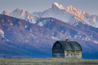 Historic Barn at Sunset, Flathead Indian Reservation, Montana