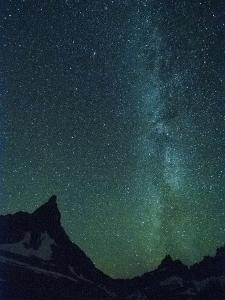 Milky Way over Glacier National Park, Montana. by Steven Gnam
