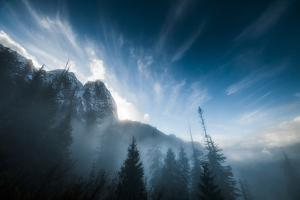 Mount Index Rises Above the Mist in Washington by Steven Gnam