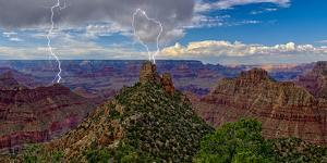 A storm brewing directly over the Sinking Ship on the south rim of the Grand Canyon, Arizona, USA by Steven Love