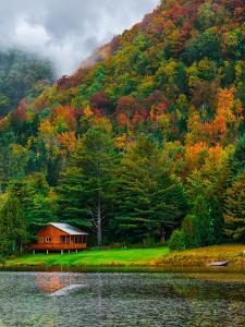 Cabin on the Lake by Steven Maxx