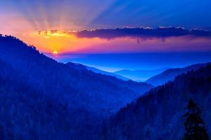 Smokey Mountain Beams by Steven Maxx