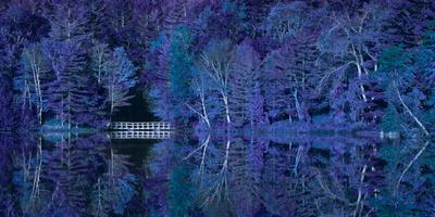 Vermont Bridge Fantasy Pano