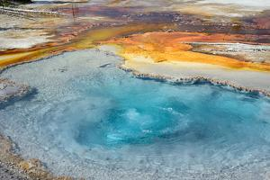 Firehole Spring, Firehole Lake Drive, Lower Geyser Basin, Yellowstone National Park, Wyoming, USA by Steven Milne