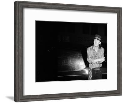 Stevie Ray Vaughan--Framed Premium Photographic Print