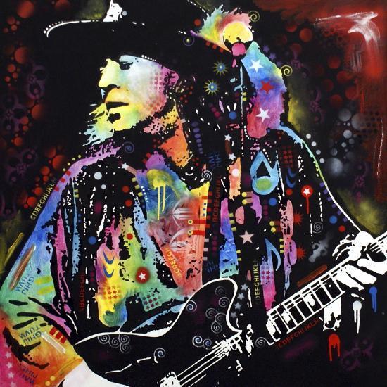 Stevie Ray Vaughan-Dean Russo-Premium Giclee Print