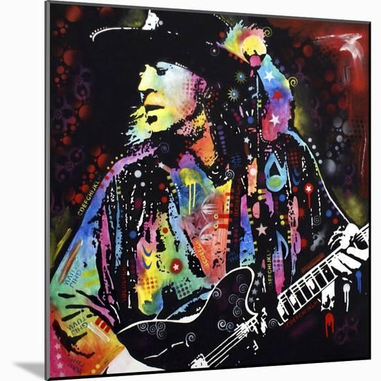 Stevie Ray Vaughan-Dean Russo-Mounted Premium Giclee Print