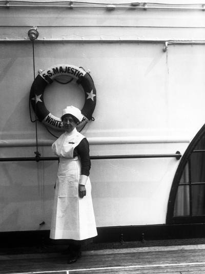 Stewardess on the Majestic-Edwin Levick-Photographic Print