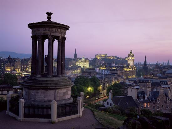 Stewart Monument and Princes Street, Edinburgh, Lothian, Scotland, United Kingdom-Roy Rainford-Photographic Print