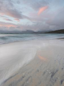Pink Clouds and Flowing Tide at Luskentyre Beach, Isle of Harris, Outer Hebrides, Scotland by Stewart Smith