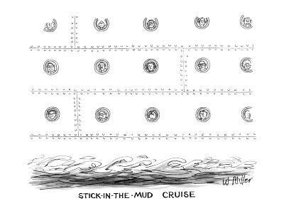 Stick-in-the-Mud Cruise - New Yorker Cartoon-Warren Miller-Premium Giclee Print