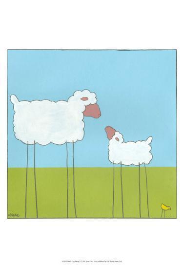 Stick-Leg Sheep I-Erica J^ Vess-Art Print