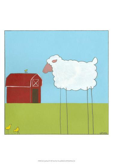 Stick-Leg Sheep II-Erica J^ Vess-Art Print