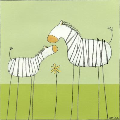 Stick-leg Zebra II-June Erica Vess-Art Print