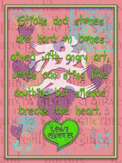 Sticks and Stones are Hard on Bones-Cathy Cute-Giclee Print