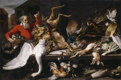 Still Fife with Dead Game, Fruits, and Vegetables in a Market, 1614-Frans Snyders-Giclee Print