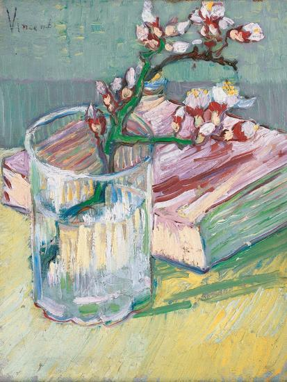 Still Life, a Flowering Almond Branch, 1888-Vincent van Gogh-Giclee Print