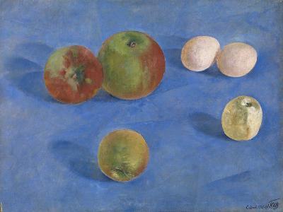Still Life. Apples and Eggs, 1921-Kuzma Sergeyevich Petrov-Vodkin-Giclee Print