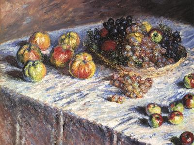 Still-Life: Apples and Grapes, 1880-Claude Monet-Giclee Print