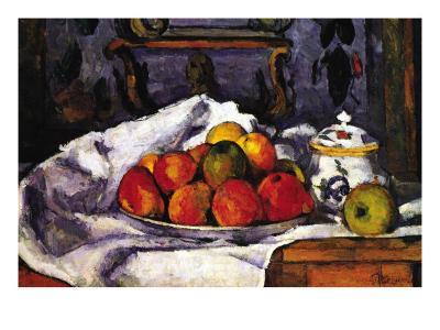 Still Life Bowl of Apples-Paul C?zanne-Art Print